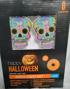 halloween 🎃 skull lights . Dia de los muertos . Home Decor