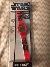 Star Wars Darth Maul Digital Watch 3D Dial Red
