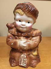 Vintage McCoy Brush Pottery Davy Crockett Cookie Jar - 1950's - Very Nice Cond.