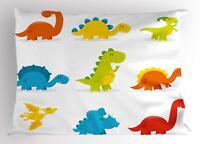 Dinosaur Pillow Sham Decorative Pillowcase 3 Sizes Bedroom Decor