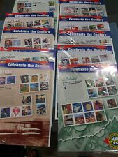 Vintage Postage Stamps Celebrate the Century Stamp lot of 10. 1900-1990