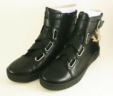 Born Sophia Black Leather Military Combat Boot Size 6.5 - Brand New In Box