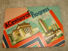 A Century Of Progress, Chicago commemorative sewing needle sampler, circa 1930's