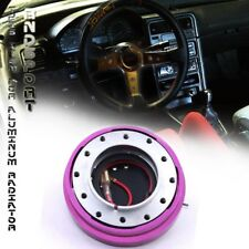 "Steering Wheel 6 Hole Short Hub Quick Release Security Adapter 1.5"" Thin Purple"