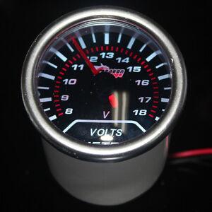 "2"" 52mm LED KFZ Universal Voltmeter Batteriespannung Anzeige Instrument"