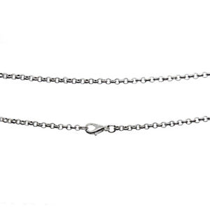 Antique Silver 2.5mm Iron Rolo Assembled Chain Necklace Various Lengths