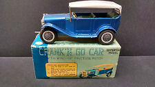 Vintage Japan Yesteryear 1920's Sedan Crank N Go  friction powered with box