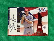 2006-07 USA Baseball Signatures Black #37a Matt Harvey Action 078/595