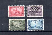 CANADA 1935 SCOTT# 223//227. MOUNTIE, NIAGARA FALLS, CHAMPLAIN MONUMENT, QUEBEC.