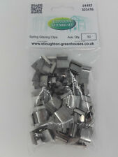 "50 Stainless Steel Spring ""G"" Greenhouse Glazing Clips"