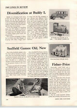 1969 PAPER AD Buddy L Toy Article Cars Trucks Kitchen Toys Play Turtle Dove