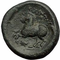Philip II Alexander the Great Dad OLYMPIC GAMES Ancient Greek Coin Horse i57400