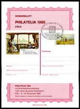 BRD GA-SONDERBLATT 1985 PHILATELIA CARL SPITZWEG MALER MALEREI GANZSACHE ze79
