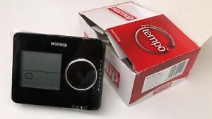 Warmup TEMPO-New underfloor heating thermostat + Sensor Prob-Black.