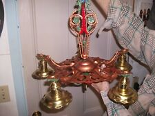 Vintage  1930's   Art Deco  Cast Iron  Five  Socket  Chandelier.