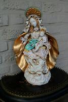 ITalian pattarino school Terra cotta Madonna child figurine statue religious