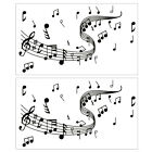 2pcs Music Note Wallpaper Sticker Diy Wall Stickers For Home Decoration