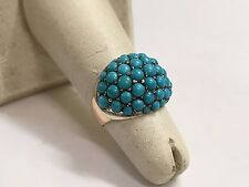 14K YELLOW GOLD TURQUOISE RING 5.0 GRAMS JEWELRY (NR)