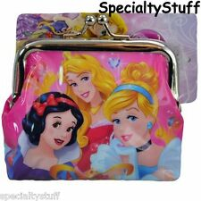 NEW DISNEY PRINCESS COIN PURSE WITH METAL CLASP PRINCESSES (LH)