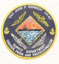 "USN Navy patch: USS John F. Kennedy CV-67, Supply Dept - 4 1/2"""