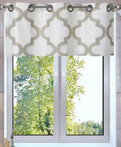 1PC VALANCE Geometric Design Blackout Lined Window Curtain Grommet Panel MOZA