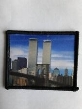 "3"" Twin Towers NY Skyline Remembrance Sublimation Iron Or Sew On Patch Badge"