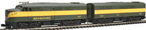 Life-Like N Scale Diesel Locomotive FA1-FB1 Powered Seaboard 433-7456 #4202-4302