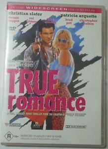 True Romance - Christian Slater Patricia Arquette - Tarantino - R4 DVD - posted