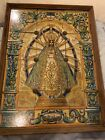 Antique Rare Mary Our Lady Of Lujan Tile Mural