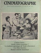 Cinématographe n°30 - 1977 - Cinéma Italien - De Verdi à Bertolucci - Bunuel