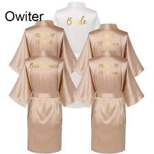 Vestido De Boda Seda Raso Mujer Novia Dama De Honor Kimono Bata Fiesta albornoces de baño 02
