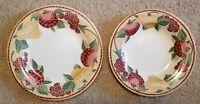 "Pier 1 Mosaic Fruit Dinner Plate & Serving Bowl, Approximately 11.5"" & 10.5"""