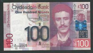 SCOTLAND 100 POUNDS 2009 PICK 229M   Clydesdale  BANK  UNC