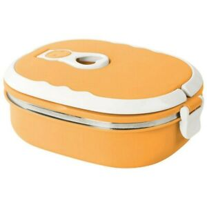 1x Stainless Steel Thermal Insulated Lunch Box Food Container School Kids Bento