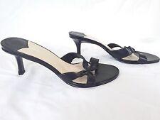 NINE WEST - Women's Black Leather Mules/Sandals - Size 8 M