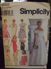 Simplicity 8865 Misses Wedding & Bridesmaid's Dresses Pattern - Size 12/14/16