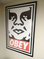 SINGED - Shepard Fairey OBEY Icon FACE Print Poster Obey Giant 24X36 RARE