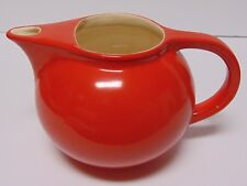 Vtg 1940s Universal Cambridge Pottery Oven Proof Red 64 Oz Pitcher Retro Kitchen