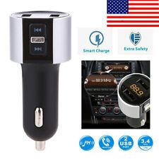 Handsfree Wireless Bluetooth Car Kit Fm Transmitter Radio Mp3 Player/Usb Charger
