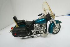 """Toy State Blue Turbo Chopper Road Ripper Toy Motorcycle 10.5""""L Flaws"""