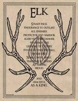 ELK PRAYER Parchment Page for Book of Shadows, Altar!