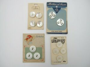 Lot of 4 Vintage Pearl/Shell 13 Buttons (A2)