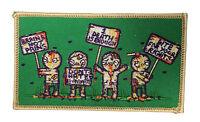 Randy Otter Zombie Protest Iron On Patch On Jacket Shirt