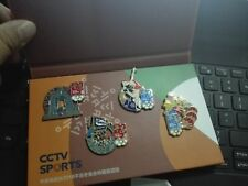 2018 PYEONG CHANG OLYMPIC CHINESE MEDIA CCTV COMPLETE PIN SET 4 PINS WITH BOX