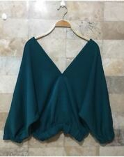 MAJA VNECK BLOUSE (BB) Blu Green