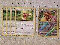 Pokémon TCG 4x Buneary #106/156 Lopunny #107/156 Rev Holo Colorless English Mint