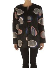 WOMEN`S PINKO FAUX FUR COAT JACKET- SIZE UK 8; IT 40; S; NWT RRP £420