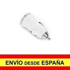 Adaptador Cargador Mechero Coche USB 12-24V 1000mA color Blanco a2630