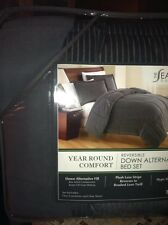 Seasons Twin Size Down Alternative Reversible Comforter Set Hypo Allergenic Gray