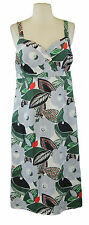 BODEN Women's Multi Floral Empire Waist Dress w/ Adjustable Straps US 4 Long NEW